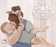 Junge alleinerziehende Mama mit Kind