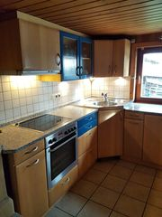 Einbauküche hochwertig Echtholz-Furnier Echt-Granit-Arbeitsplatte Ende