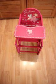 Puppenhochstuhl Holz Tisch Stuhl Little