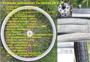 Verkaufe gebrauchtes Vorderrad 28 Zoll