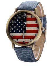 Herren Armbanduhr American Flag
