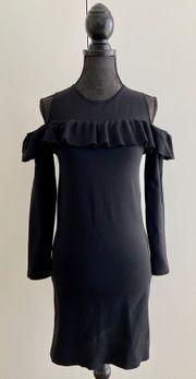 Nylon Kleid schwarz