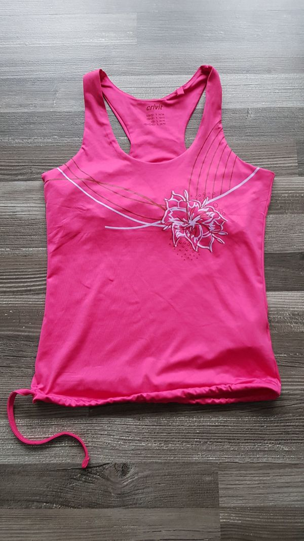 Top Sport pink Blumenmuster Gr