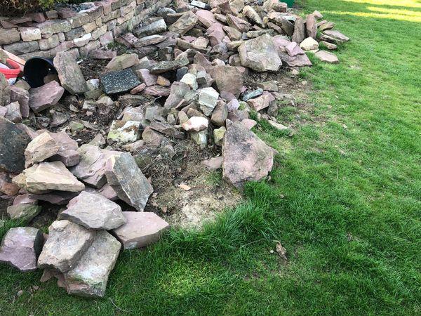 Sandsteine Mauer Steine