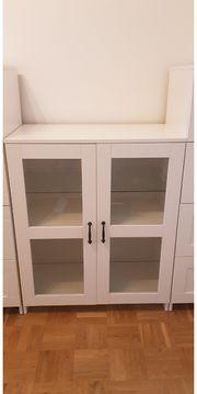 IKEA Brimnes Vitrinenschrank weiß