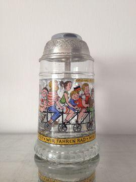 Glasbierkrug BMF - Radlerseidel mit Scharnierdeckel: Kleinanzeigen aus Calw Hirsau - Rubrik Sonstige Sammlungen