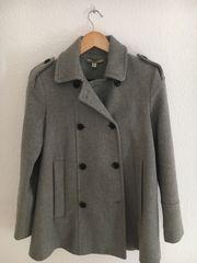 Mantel von Zara grau in