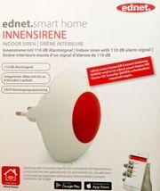 ednet smart home Innensirene weiß