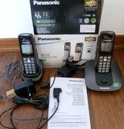 2x Panasonic KX-TG6412 Digitales Schnurlos-Telefon