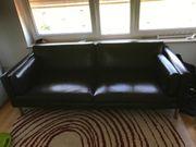 2 Sitzer Sofa Kunstleder braun