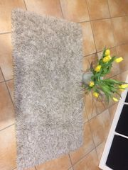 Teppich beige-weiß