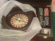 Poker Brett Spiel mit Chips