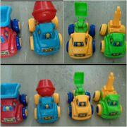 4 Baustellenfahrzeuge