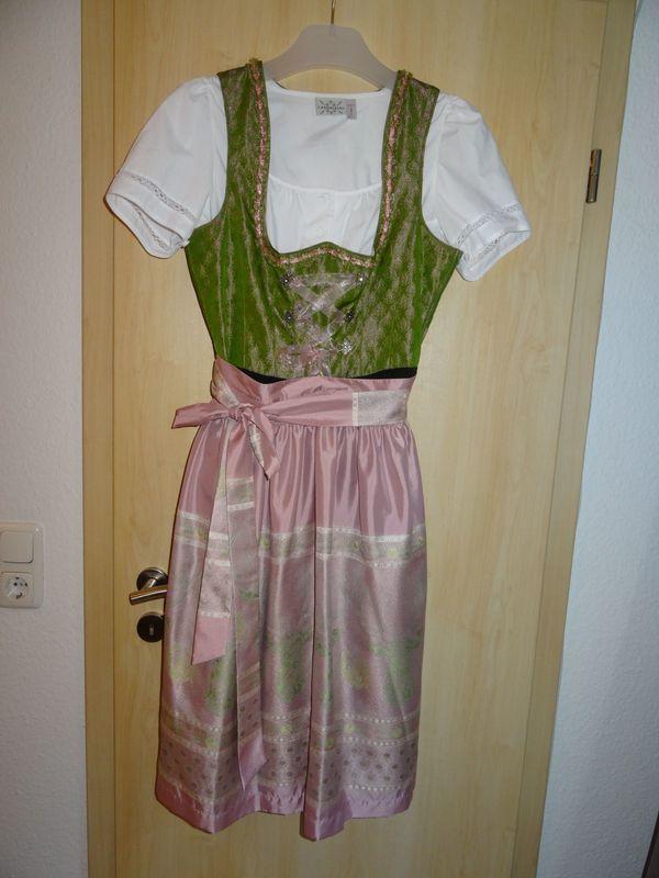Dirndl Gr 40 rosa grün