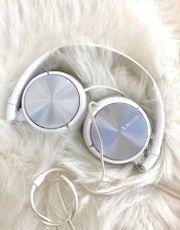 Sony Kopfhörer Weiß Silber