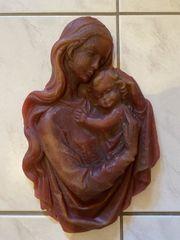Marienfigur aus Wachs Madonna zum