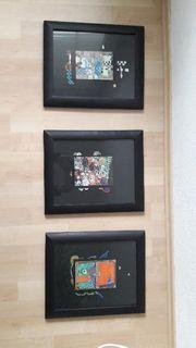 3 Bilder Wanddeko