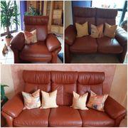 Ledercouch Leder Couch Sessel Wohnzimmermöbel