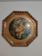 Bild Mutter Gottes Marienbild Antiquität