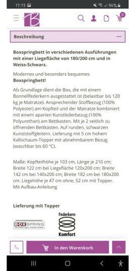Betten - Boxspringbett 180 200