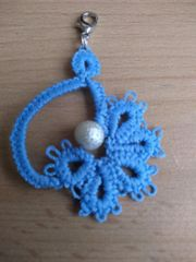 Kettenanhänger Anhänger Occhi-Spitze Blüte Blau
