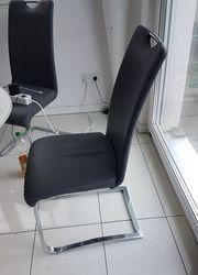 6 Stühle Kunststoffleder