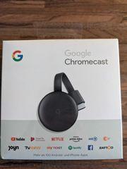 Neu Originalverpackt GOOGLE Chromecast Streaming