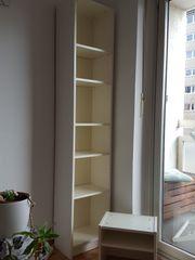 Ikea Bücherregal weiss B20×T11×H200