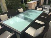 DEDON Terrassenmöbel Tisch mit 8