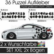 Puzzel Auto Dekor Aufkleber - Cartattoo -