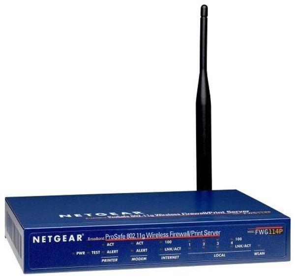 Netgear FWG114P Wireless Router Print-Server