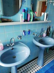 Komplette Badeinrichtung in bermuda blau
