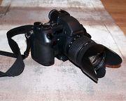 Olympus-Kamera-Ausrüstung mit reichlich Zubehör sehr