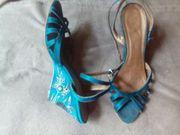 Sandaletten mit Glitzer Gr 39