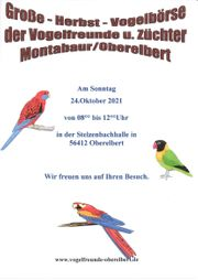 Vogelbörse Oberelbert am 24 10