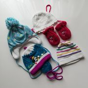 Baby-Wintermützen Handschuhe ca 6-9 Monate