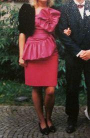 Gr 38 pinkfarbenes Abend- Cocktail-Kleid