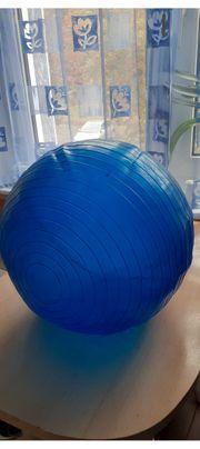 Aufblasbahrer Gymnastikball mit Pumpe Blau