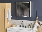 Bad Spiegelschrank weiß silber mit