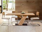 4 Stühle Freischwinger Eiche Weiß