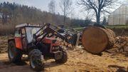 Holzzange für Frontlader Holzgreifer Forstgreife