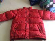 Winterjacke Daunen ohne Kaputze rot