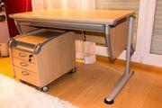 Schüler Schreibtisch und Rollcontainer Fa