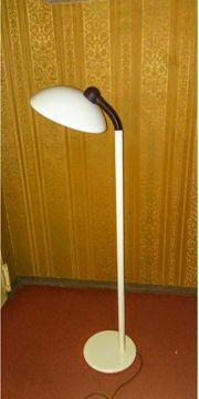 Stehlampe weiß 70s style von
