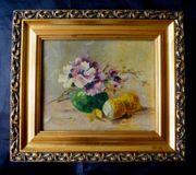 3 tolle alte Stillleben Gemälde