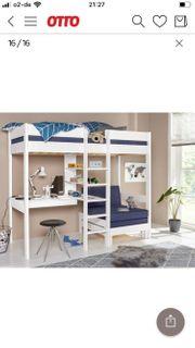 superschönes Hochbett mit Schreibtisch und