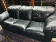 Ledersofa schwarz für Lederverarbeitung