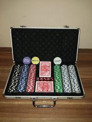 Pokerkoffer mit Original Tally-Ho Spielkartender