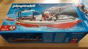 Playmobil Feuerwehrboot mit Anhänger Nr