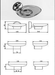 Badaccessoire Seifenhalter sammetro ohne Seifenschale
